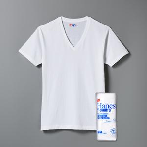 ジャパンフィット ブルーパック【2枚組】VネックTシャツ 19SS Japan Fit ヘインズ(H5215)
