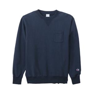 ポケット付きクルーネックスウェットシャツ 18FW キャンパス チャンピオン(C3-J031)