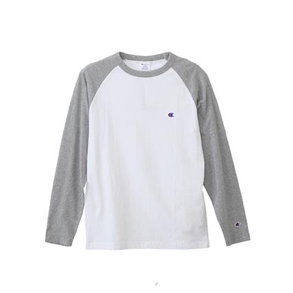 ラグランロングスリーブTシャツ 18SS ベーシック チャンピオン(C3-J425)