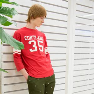 3/4スリーブ【7分袖】フットボールTシャツ 18SS キャンパス チャンピオン(C3-M407)