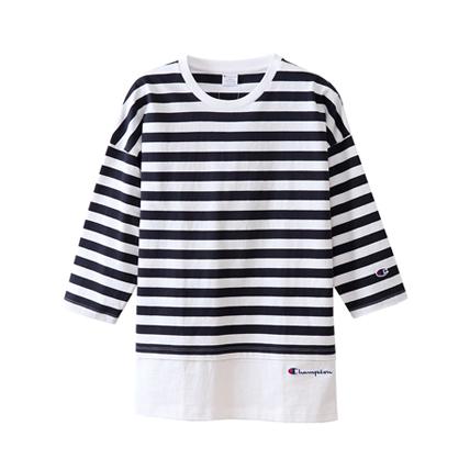 ユニセックス ボーダーロングスリーブTシャツ 18FW 【秋冬新作】キャンパス チャンピオン(C3-N414)