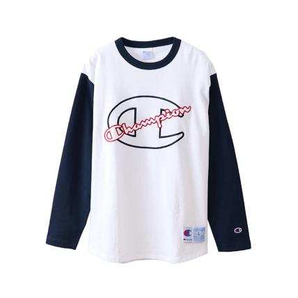 ロングスリーブベースボールTシャツ 18FW 【秋冬新作】アクションスタイル チャンピオン(C3-N423)