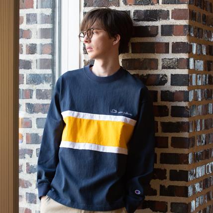 ロングスリーブTシャツ 18FW 【秋冬新作】アクションスタイル チャンピオン(C3-N424)