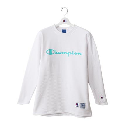 STRETCH GRID FLEECE ロングスリーブTシャツ 18FW 【秋冬新作】CAGERS チャンピオン(C3-NB442)
