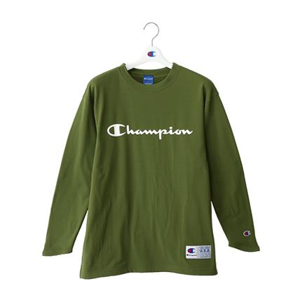STRETCH GRID FLEECE ロングスリーブTシャツ 18FW CAGERS チャンピオン(C3-NB442)