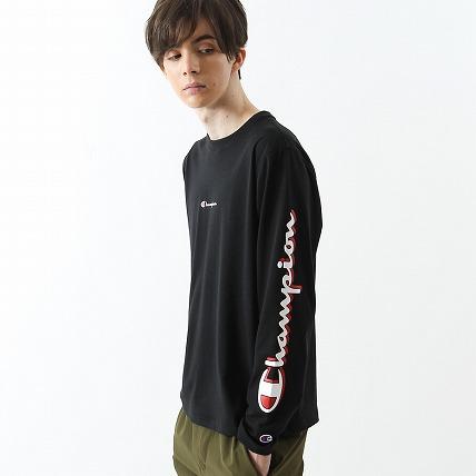 C VAPOR COOL ロングスリーブTシャツ 18FW 【秋冬新作】アクションスタイル チャンピオン(C3-NS430)