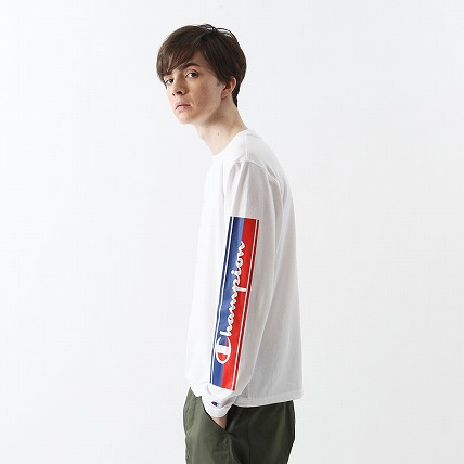 C VAPOR COOL ロングスリーブTシャツ 18FW 【秋冬新作】アクションスタイル チャンピオン(C3-NS431)