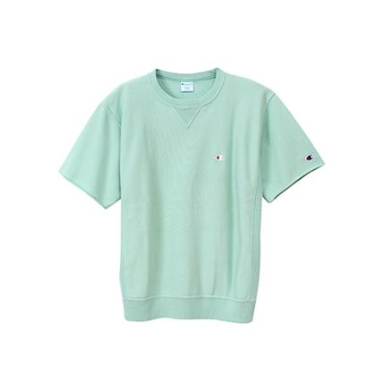 リバースウィーブ ハーフスリーブクルーネックスウェットシャツ(10oz) 19SS【春夏新作】リバースウィーブ チャンピオン(C3-P016)