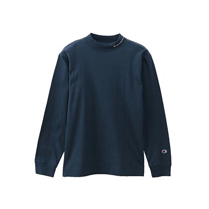 モックネックロングスリーブTシャツ 19FW【秋冬新作】ベーシック チャンピオン(C3-Q402)