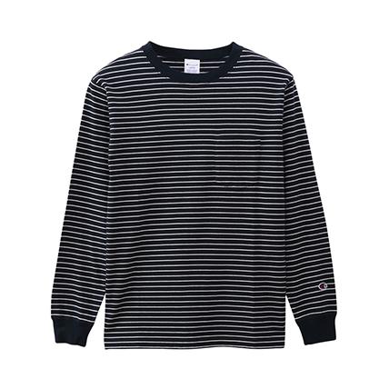 ボーダーロングスリーブTシャツ 19FW【秋冬新作】ベーシック チャンピオン(C3-Q403)