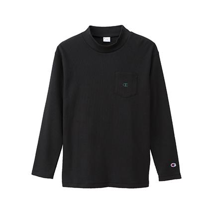 ロングスリーブモックネックTシャツ 19FW 【秋冬新作】キャンパス チャンピオン(C3-Q433)