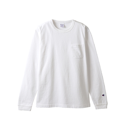 T1011(ティーテンイレブン) ポケット付きロングスリーブTシャツ 19SS【春夏新作】MADE IN USA チャンピオン(C5-P401)