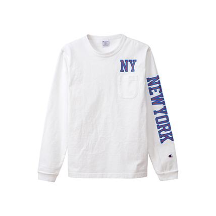 T1011(ティーテンイレブン) ポケット付きロングスリーブTシャツ 19FW 【秋冬新作】MADE IN USA チャンピオン(C5-Q405)