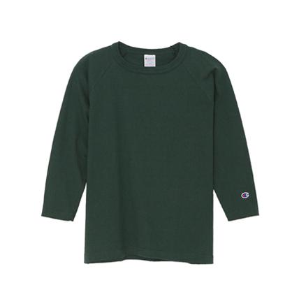T1011(ティーテンイレブン) ラグラン3/4スリーブ【7分袖】Tシャツ 18FW MADE IN USA チャンピオン(C5-U401)