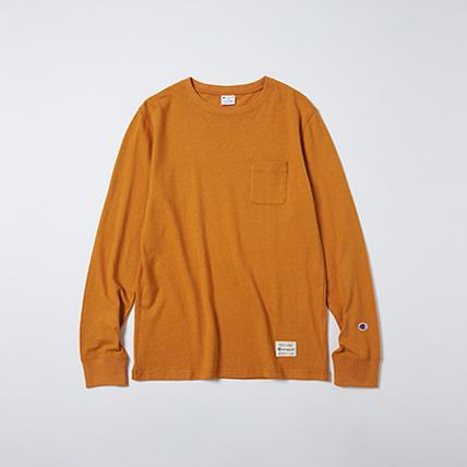 IVY ロングスリーブポケットTシャツ 19FW スタンダード チャンピオン(C8-H403)