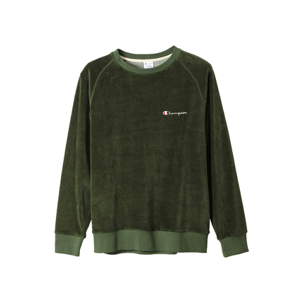ベロアクルーネックシャツ 18FW スタンダード チャンピオン(C8-J005)