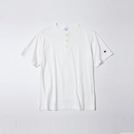ヘンリーネックTシャツ 19SS スタンダード チャンピオン(C8-K302)