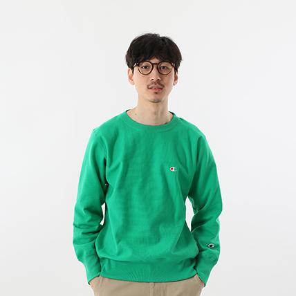 リバースウィーブクルーネックスウェットシャツ 19SS【春夏新作】スタンダード チャンピオン(C8-P001)