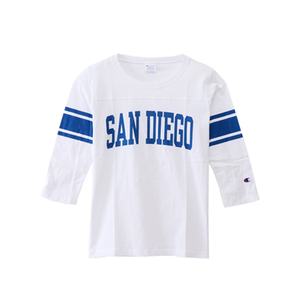 ウィメンズ リバースウィーブ 3/4スリーブ【7分袖】フットボールTシャツ 18SS チャンピオン(CW-M405)