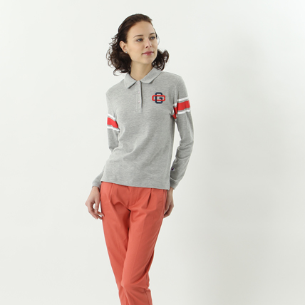 ウィメンズ ロングスリーブストレッチポロシャツ 18SS 【春夏新作】GOLF チャンピオン(CW-MS404)