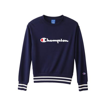 ウィメンズ クルーネックスウェットシャツ 18FW アクティブスタイル チャンピオン(CW-NS013)