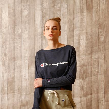 ウィメンズ ロングスリーブTシャツ 18FW アクティブスタイル チャンピオン(CW-NS413)