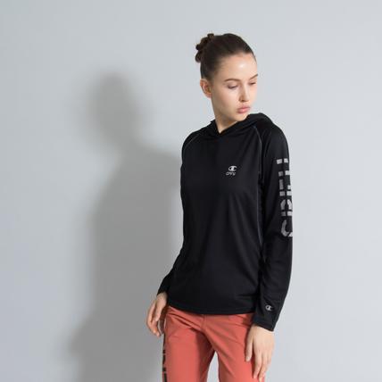 ウィメンズ ロングスリーブパーカーTシャツ 18FW 【秋冬新作】CPFU チャンピオン(CW-NS422)