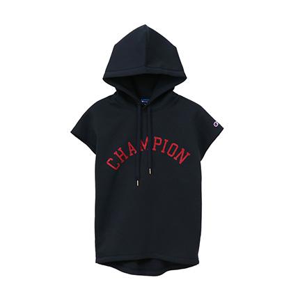 ウィメンズ Wrap-Air フレンチスリーブフードシャツ 19SS【春夏新作】アクティブスタイル チャンピオン(CW-PS105)