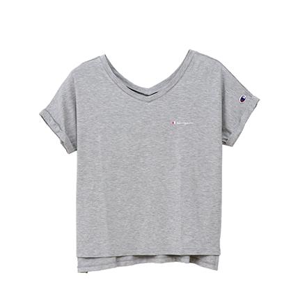 ウィメンズ VネックスリットTシャツ 19SS アクティブスタイル チャンピオン(CW-PS304)