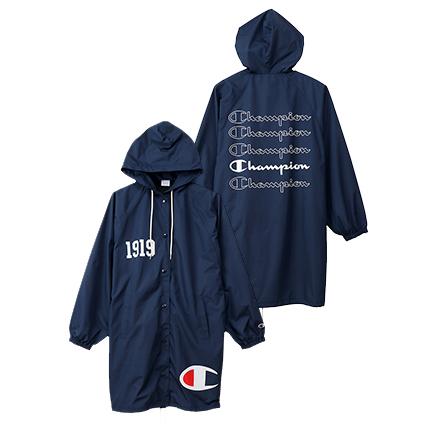 ウィメンズ ロングコーチジャケット 19FW 【秋冬新作】チャンピオン(CW-Q604)