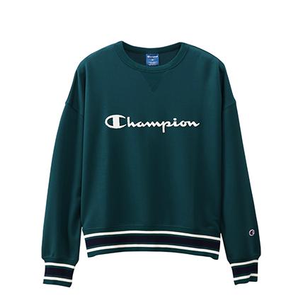 ウィメンズ クルーネックスウェットシャツ 19FW 【秋冬新作】スポーツ チャンピオン(CW-QS002)