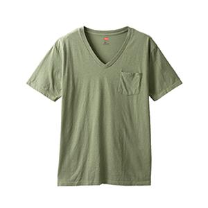 ポケット付きVネックTシャツ 19SS ヘインズスポーツウェア ヘインズ(H3-M311)