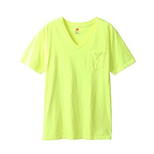 ポケット付きVネックTシャツ 19SS ヘインズスポーツウェア ヘインズ(H3-P312)