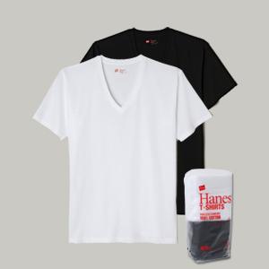 ジャパンフィット【2枚組】VネックTシャツ 18FW Japan Fit ヘインズ(H5125)