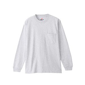 ビーフィーポケットロングスリーブTシャツ 20FW 【秋冬新作】BEEFY-T ヘインズ(H5196)