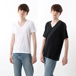 ジャパンフィット【2枚組】VネックTシャツ 5.3oz 19SS【春夏新作】Japan Fit ヘインズ(H5325)