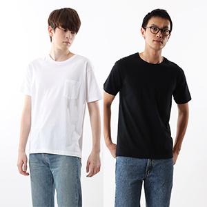 ジャパンフィット【2枚組】クルーネックポケットTシャツ アソート 5.3oz 20FW Japan Fit ヘインズ(H5340)