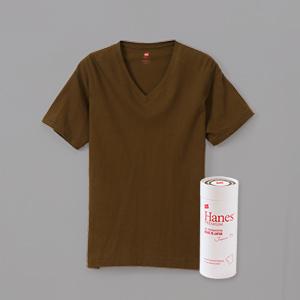 ヘインズ プレミアムジャパンフィット VネックTシャツ PREMIUM Japan Fit(HM1-F002)