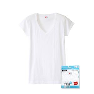 ビズ魂クール 1分袖VネックTシャツ 17FW 魂シリーズ ヘインズ(HM1-K203)