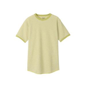 ボーダーワッフルTシャツ Hanes colors ヘインズ(HM1-R102)