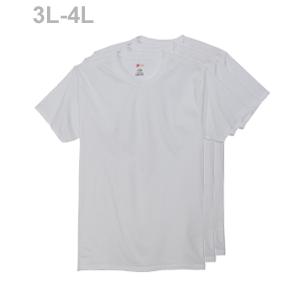 大きいサイズ 【3枚組】オープンエンドクルーネックTシャツ 18FW グローバルバリューライン ヘインズ(HM1EG751)