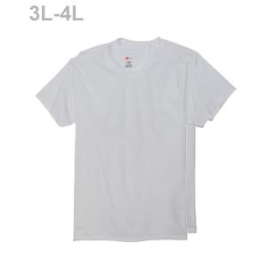 大きいサイズ 【2枚組】オープンエンドクルーネックTシャツ 18FW グローバルバリューライン ヘインズ(HM1EG752)