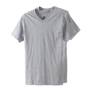 【2枚組】オープンエンドVネックTシャツ 20FW グローバルバリューライン ヘインズ(HM1EG754)