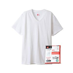 【2枚組】ビジカジ魂 VネックTシャツ 20SS 魂シリーズ ヘインズ(HM1ER702)