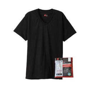 【2枚組】ビジカジ魂 VネックTシャツ 20FW 魂シリーズ ヘインズ(HM1ER702)
