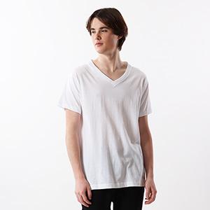 【3枚組】アオラベルVネックTシャツ 18FW 青パック ヘインズ(HM2125G)