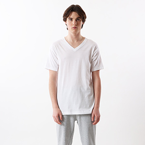 【3枚組】アカラベルVネックTシャツ 18FW 赤パック ヘインズ(HM2145K)