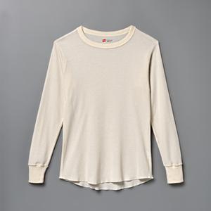 サーマルクルーネックロングスリーブTシャツ  ヘインズ(HM4-G501)