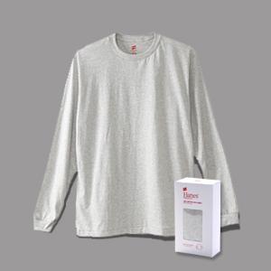 ヘインズ プレミアム クルーネックロングスリーブTシャツ PREMIUM ヘインズ(HM4-L001)