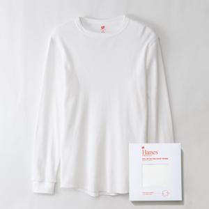 ヘインズ プレミアム クルーネック サーマル ロングスリーブTシャツ 19FW PREMIUM ヘインズ(HM4-N001)